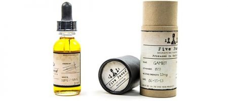 Five Pawns e-liquid packaging