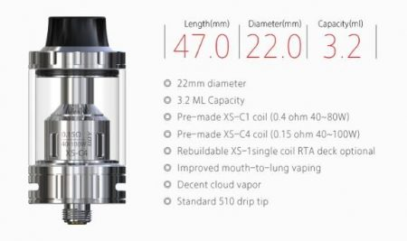 The specs of the iJoy EXO S