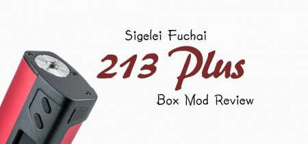 Sigelei 213 Plus TC Box Mod Review