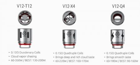 Coils you get with the TFV12 Tank